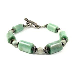 Sterling Silver Jade Vintage Bracelet